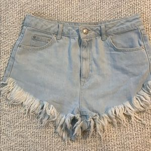 Topshop light denim short